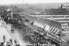 View of downtown Tulsa from the southeast corner of 3rd & Main, c 1931