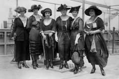 Tulsa women at the launch of the S.S.  Tulsa on July 26, 1919. The ship't sponsor, Lulu Crosbie, is third from the left.