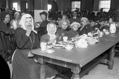 immigrants in dining hall