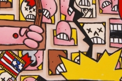 Close-up of one of artist Eric Humphries pieces on the Oklahoma City Bombing