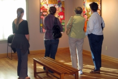 Visitors in gallery