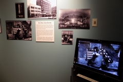 Section of exhibit about recording of Ritz Theater organ recently donated to museum