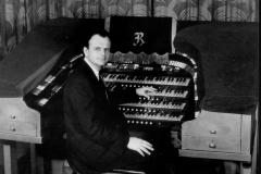 "William N. ""Bill"" Simon playing the organ at the Ritz Theater"