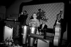 Honey Hudgen playing her congo drums