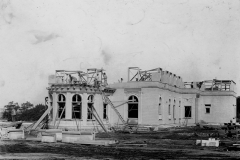 The David R. Travis House under construction, ca.1918-19. Noble B. Fleming, Architect; Grimshaw Construction Company, General Contractor.