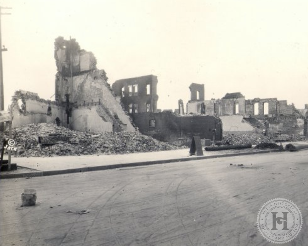 Greenwood district after the 1921 Tulsa Race Riot/Massacre