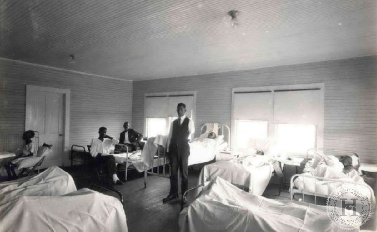 Temporary hospital ward set up by the Red Cross following the 1921 Tulsa Race Riot/Massacre.