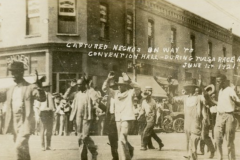 African-Americans being led to the Convention Hall during the 1921 Tulsa Race Riot/Massacre.