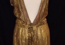 Gold lame dress, 1940s