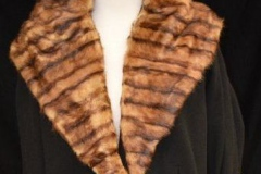 Wool coat with fur trim