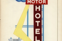 Drawing of Trade Winds Sign Motel sign by Wallie Werr Sign Company (1998.002.007)