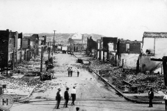 Image of Greenwood after race riots. Donated by guardian, Oakley Deisenroth.